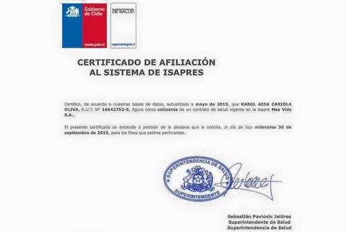 certificado isapre